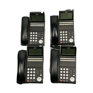 4x NEC DT400 Series DTZ-12D-3P (BK)Tel Digital Office Business Phone Tested Used