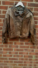 Vintage Bora Brown Leather  Jacket UK size L