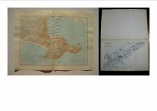 Print Ancient Map Map Antique Old Map Gaeta Formia Latina Meta 900