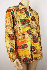 Vtg Style Mens Dagger Collar Aztec Hippie Funky Party Festival Shirt Chest 36/38