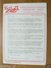 1980 WK IJSSPEEDWAY ASSEN HALVE FINALE 9/10-2- 1980 PRESSE INFO
