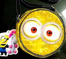 NEW! Despicable Me Minions Minion Bag Purse Sequin Shiny Dave Tim Phil Kevin