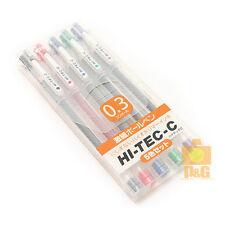 PILOT HI-TEC-C 0.3mm needle tip Ball Point Pen Gel Pen 5 Color Set Made in Japan