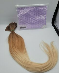"""20"""" 40pc Ombre Human Hair Tape In Hair Extensions Med Brown to Light Blonde"""