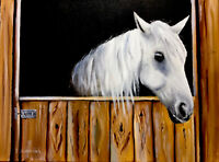 Horse, equine, equestrian, original oil painting, on canvas 40x30 Cm