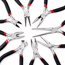 1set 8pcs Black Jewelry Findings Making Beading DIY Craft Cutting Pliers Tools