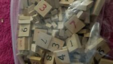 Various Number Wood Game Pieces