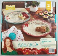 The Pioneer Woman Cheerful Rose 12-Inch Holiday Sharing Plates, Set of 2