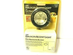 New Hampton Bay Black 120V 20W Halogen Under Counter Accent Light Kit 153 270