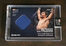 2019 TOPPS NOW SHOWTIME BOXING #PVB-4A MANNY PACQUIAO MAT RELIC # 7/49