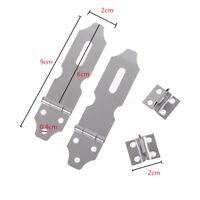 2 Set Cabinets Gates Padlock Latch Door Hasp Staples Screws IO FT