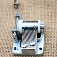 Transparent Retro DIY Mechanical Hand Crank Metal Music Case Movement Part Gifts