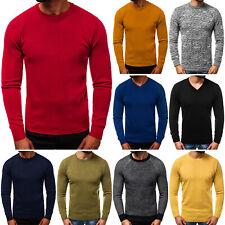 Suéter Sweater chaqueta de punto jersey de punto fino señores Basic ozonee 8466 Mix