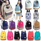 Womens Girl Canvas Shoulder School Bag Handbag Bookbag Backpack Retro Rucksack