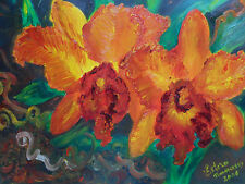 Original Oil Painting on canvas - ORCHIDS FL