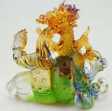 Liuli crystal dragon, Liuli glass artworks, China handicrafts, collectibles arts