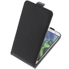 Bolsa para Acer Liquid Z6E Funda Protectora Teléfono Móvil con Tapa Negra