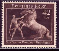 THIRD REICH Mi. #699 mint MNH Braunes Band Horse Race stamp! CV $95.00