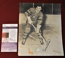 Vintage 1948 Maurice Richard Montreal Canadiens Auto Signed Original Photo JSA!