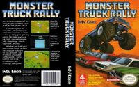 Monster Truck Rally Nintendo Nes Cleaned & Tested Authentic