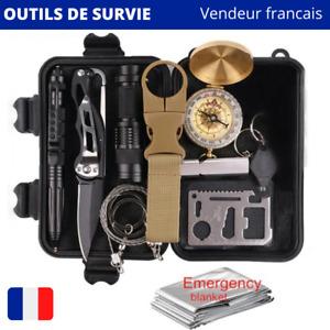 Kit de survie ensemble outils militaire pour voyage / camping / Randonnée