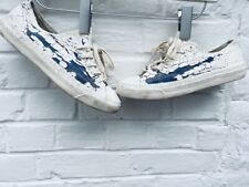 Maison Martin Margiela X Converse White Painted Low Sneakers Size EU 38,5 / US 6