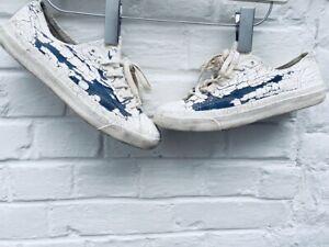 Maison Martin Margiela X Converse White Painted Low Sneakers Size EU 38,5 / US 6