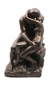 The Kiss by Rodin Statue Bronze Finish Love Romantic Parastone Museum Replica 9H