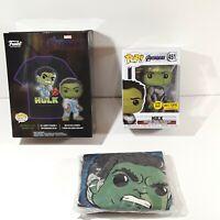 Funko Pop Tees Hulk Marvel Avengers Bobble-Head & T-Shirt Combo - Size XS W/ Box