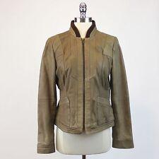 BLACK RIVET Wilsons Women's Genuine Leather Jacket Full Zip Light Brown Tan Sz S