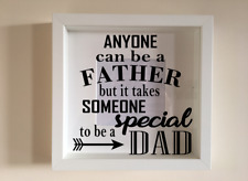 IKEA RIBBA Box Frame Personalised Vinyl Wall Art Quote Father Special Dad day