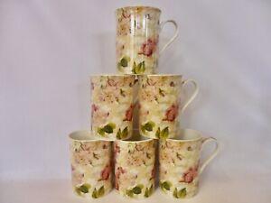 Lydia design 10oz china mugs