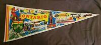 Vintage Felt Pennant Banner Ontario Canada Travel Souvenir