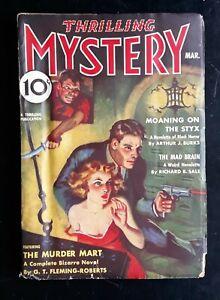 Thrilling Mystery Pulp Magazine 3/ 1938