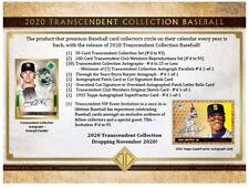 2020 Topps Transcendent Collection Baseball Case Break Random Hit - Spot 187