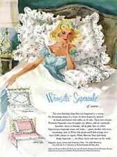 Wamsutta Milles Sheets PILLOWS Serenity GGA Fragrant Bower ENCHANTMENT 1958 Ad