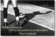 NEW Vince Lombardi Quote - Perfection - Classroom Motivational POSTER