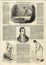 1843 Louis Spohr Cricket Match Box Pilch Shadow Dance Engraving