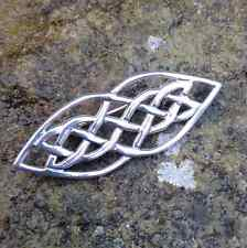Sterling silver 925 traditional Celtic knot design pin brooch.Irish Jewelry gift