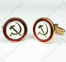 NEW Russian HAMMER AND SICKLE CUFFLINKS Brass Soviet Red Army Military Accessory