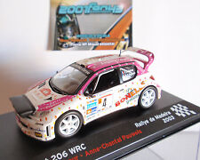 PEUGEOT 206 WRC #4 DELECOUR RALLYE MADEIRA 2003 con farera with lightpod 1/43