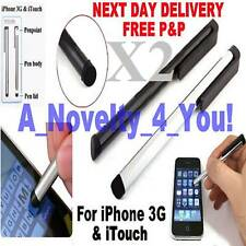 2X Iphone 3gs Itouch Chrome / Blk Stylus Pen I phone 3g