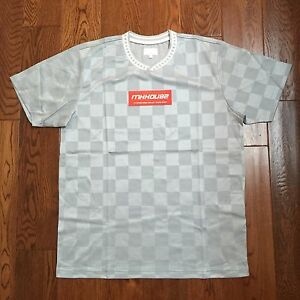 New Supreme Checker Soccer Jersey Top Tee Logo Box Spring Summer 2016 Size Large