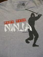 XL gray PART TIME NINJA FUNNY t-shirt by DAVID & GOLIATH