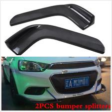 2PCS Winglet Car Front Bumper Lip Diffuser Splitter Canard Carbon Fiber Style