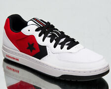Converse Rival OX Men's White University Red Black Low Lifestyle Sneakers Shoes