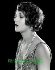 HELENE COSTELLO 8X10 Lab Photo 1920s Silent Era Pearl Necklace Elegance Portrait