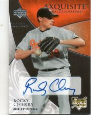 ROCKEY CHERRY 2007 EXQUISITE ROOKIE SIGNATURES AUTOGRAPHED BASEBALL CARD 216/234
