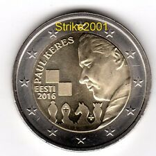 2 EURO COMMEMORATIVO ESTONIA 2016 Paul Kérès