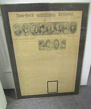 1900 NEW YORK TRIBUNE Framed Front Page, Wyatt Earp Shot, Boxer Rebellion, Etc.